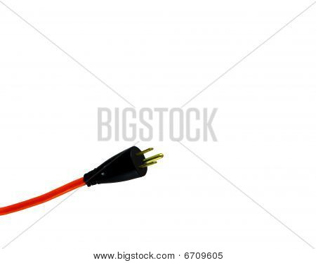 Orange electrical power cord