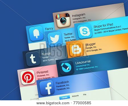Popular Social Networking Applications