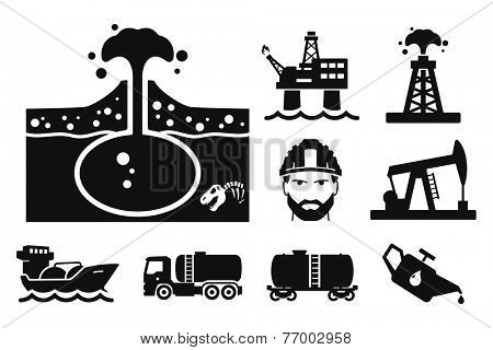 Gas and Oil icons set // 04