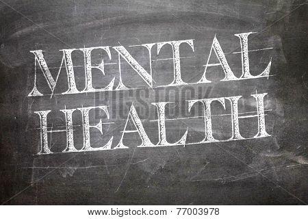 Mental Health written on blackboard