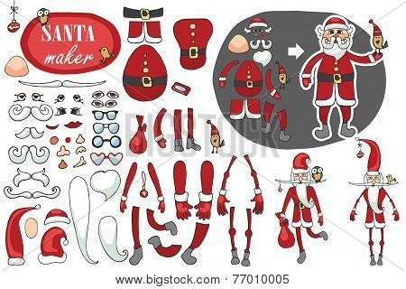 Santa Claus maker  set.Humorous Constructor