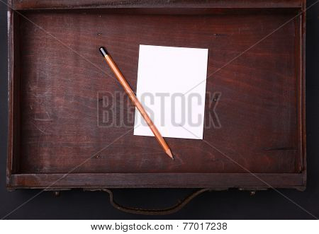 Note In A Wooden Case