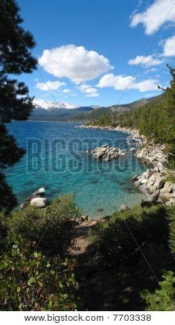 Lake Tahoe Shoreline Near Incline Village.