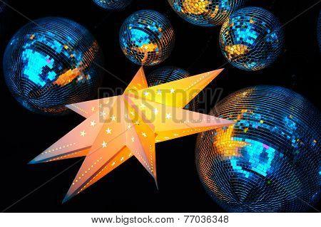 Nightclub disco balls