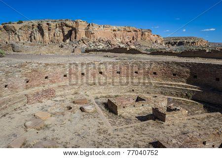 Kiva In Chaco Canyon