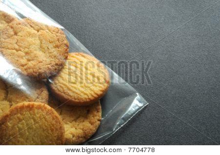 Cookies in plastic bag