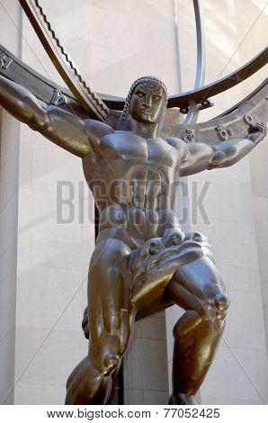 The historic Atlas Statue