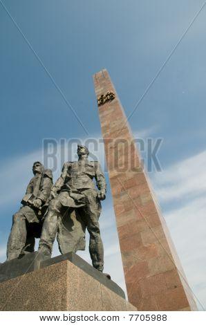 War monument on Victory square, Saint Petersburg