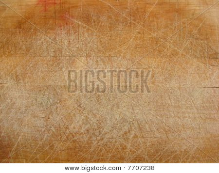 used wood chopping board