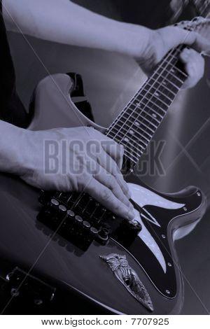 Guitar Solo At Rock Concert