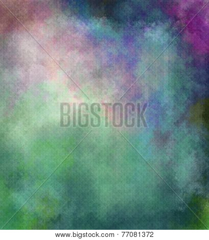 Abstract Textured Background In Green, Violet