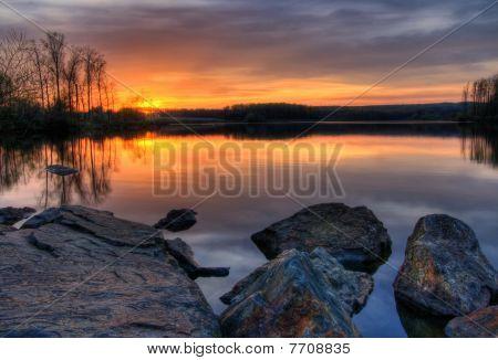 Sunset On Chambers Lake