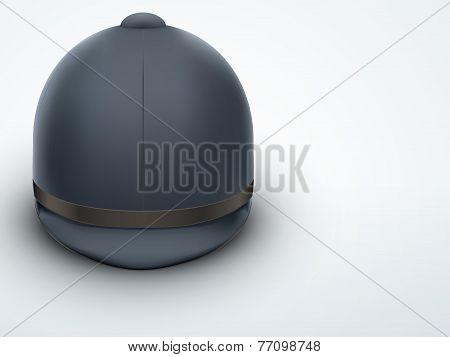 Light Background Jockey helmet for horseriding athlete