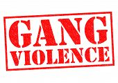 GANG VIOLENCE red Rubber Stamp over a white background. poster