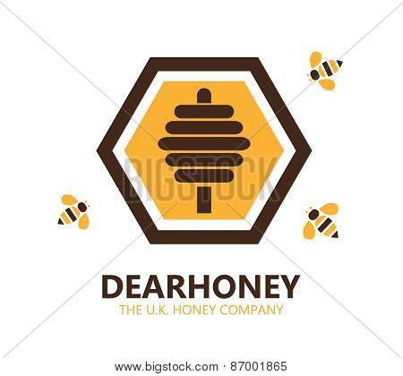 Vector Honey Logo Or Symbol Icon