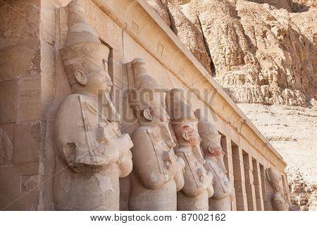 Statues At Deir-al-bahari Temple