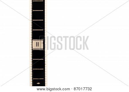 Number Two Countdown Movie Filmstrip Vertical And Copyspace
