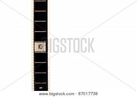 Number Ten Countdown Movie Filmstrip Vertical And Copyspace