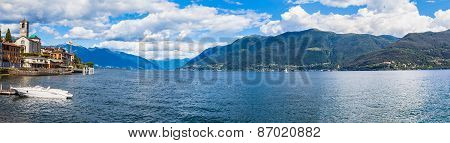 Small Town Brissago And Maggiore Lake