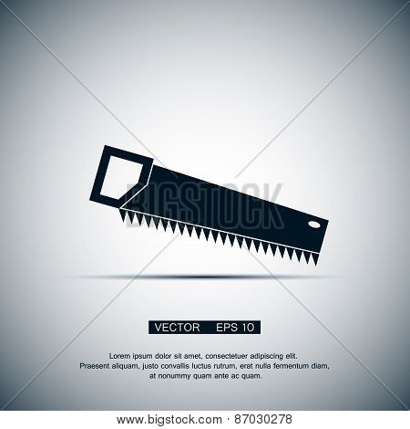 The saw icon. Saw symbol. Flat Vector illustration