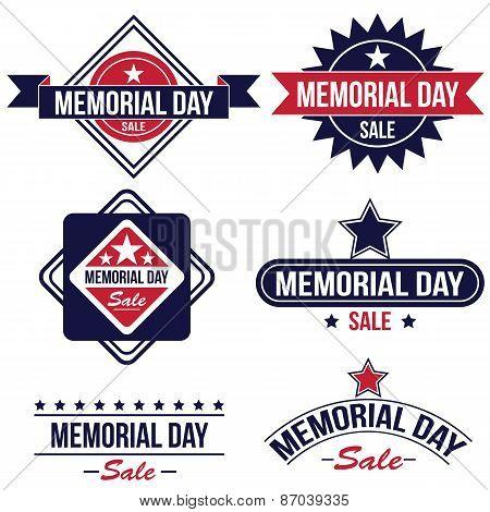 Memorial day sale badges