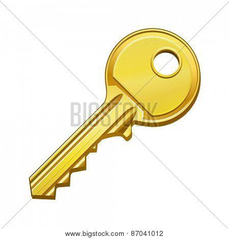 vector illustration of gold key