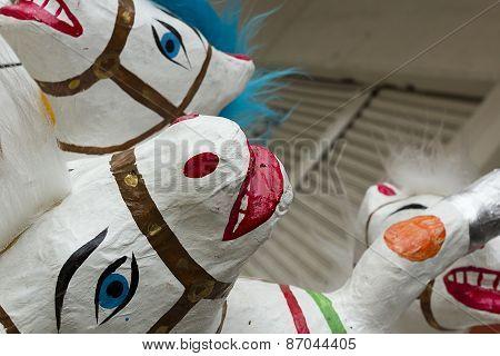National Toys Mexico - Horses Made Of Papier-mache