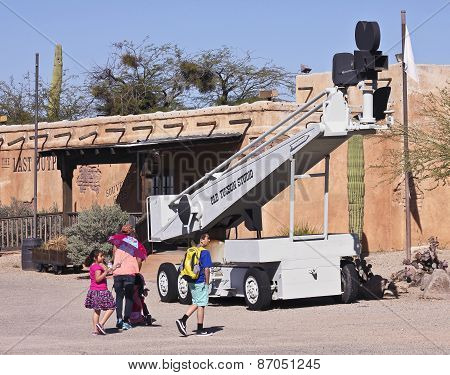 An Old Boom Lift Of Old Tucson, Tucson, Arizona