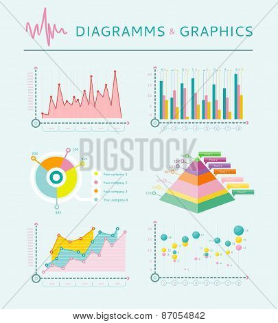 Infographic set elements, Graph and Charts, Diagrams