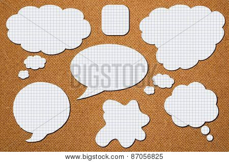 Paper Speech Bubbles In A Cage