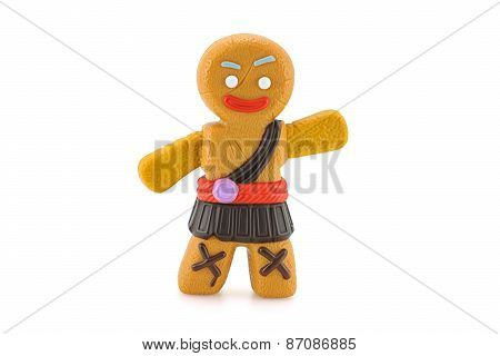 Gigi Gingerbread Man Toy Character From Shrek Forever After Animation Movie.