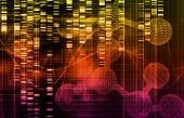 Genetic Science Research as a Medical Abstract Art background poster