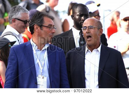 Jean Van De Velde And Patrick Kron, The Golf French Open 2015