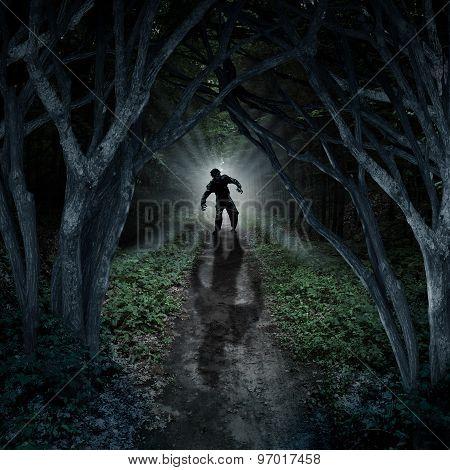 Horror Monster Walking