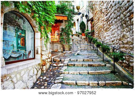 Saint-Paul de Vence- charming village in Provence, France. artis