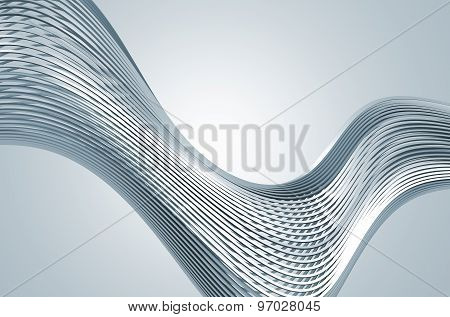 Abstract Rendering of High Tech Metal Structure.