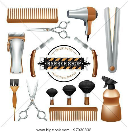 Barbershop tools set