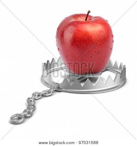Apple in bear trap