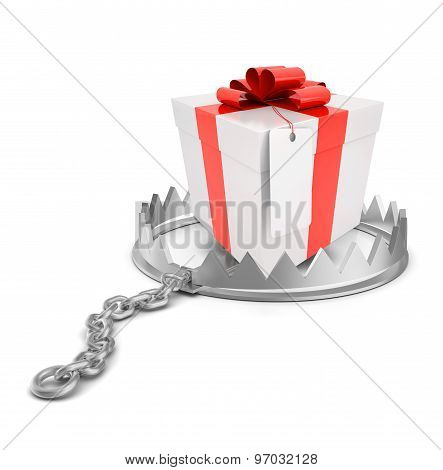 Gift in bear trap