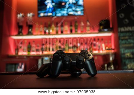 poster of Video games at bar counter