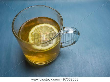 soothing cup of hot lemon tea
