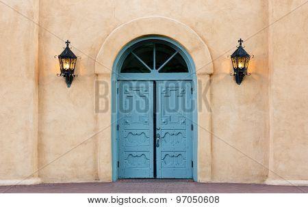 Double Doors on San Felipe De Neri Church in Albuquerque