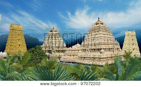 Panoramic View Hindu Narasimha Temple