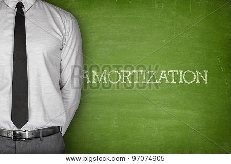 Amortization text on blackboard