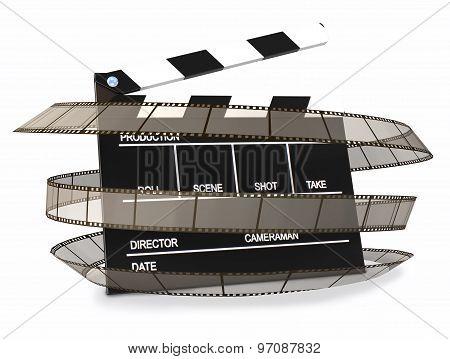 Clapper Wraped Film Strip