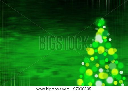 Green  Christmas Background With Vertical Stripes