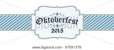 Oktoberfest Banner With Text Oktoberfest 2015