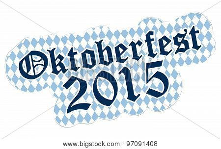 patch with checkered pattern and text Oktoberfest 2015 poster