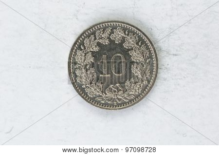 10 Switzerland Confoederatio Helvetica Coin Silver