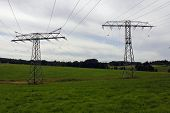 electrical tower pylon high voltage energy Strom poster
